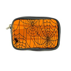 Vector Seamless Pattern With Spider Web On Orange Coin Purse