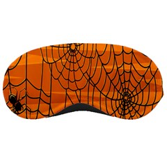 Vector Seamless Pattern With Spider Web On Orange Sleeping Masks