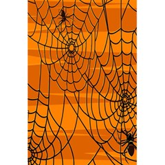 Vector Seamless Pattern With Spider Web On Orange 5.5  x 8.5  Notebooks