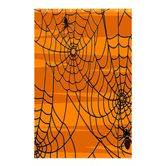 Vector Seamless Pattern With Spider Web On Orange Shower Curtain 48  x 72  (Small)