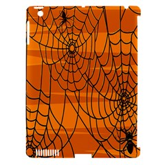 Vector Seamless Pattern With Spider Web On Orange Apple Ipad 3/4 Hardshell Case (compatible With Smart Cover)