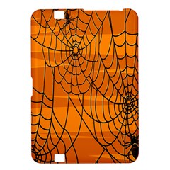Vector Seamless Pattern With Spider Web On Orange Kindle Fire Hd 8 9