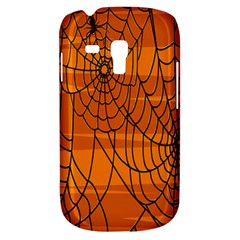 Vector Seamless Pattern With Spider Web On Orange Galaxy S3 Mini