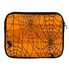 Vector Seamless Pattern With Spider Web On Orange Apple Ipad 2/3/4 Zipper Cases