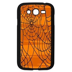 Vector Seamless Pattern With Spider Web On Orange Samsung Galaxy Grand Duos I9082 Case (black)
