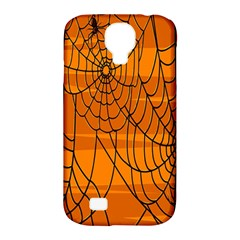 Vector Seamless Pattern With Spider Web On Orange Samsung Galaxy S4 Classic Hardshell Case (PC+Silicone)
