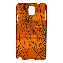 Vector Seamless Pattern With Spider Web On Orange Samsung Galaxy Note 3 N9005 Hardshell Case
