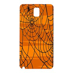 Vector Seamless Pattern With Spider Web On Orange Samsung Galaxy Note 3 N9005 Hardshell Back Case