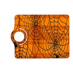 Vector Seamless Pattern With Spider Web On Orange Kindle Fire HD (2013) Flip 360 Case
