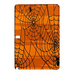 Vector Seamless Pattern With Spider Web On Orange Samsung Galaxy Tab Pro 10 1 Hardshell Case
