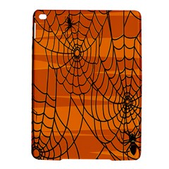 Vector Seamless Pattern With Spider Web On Orange iPad Air 2 Hardshell Cases