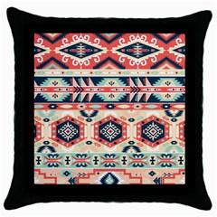 Aztec Pattern Copy Throw Pillow Case (Black)