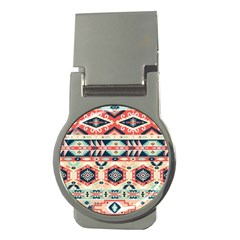Aztec Pattern Copy Money Clips (round)