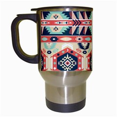 Aztec Pattern Copy Travel Mugs (white)