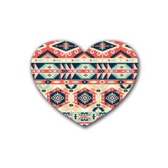 Aztec Pattern Copy Heart Coaster (4 Pack)