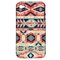 Aztec Pattern Copy Apple Iphone 4/4s Hardshell Case (pc+silicone)