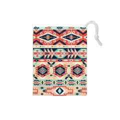 Aztec Pattern Copy Drawstring Pouches (Small)