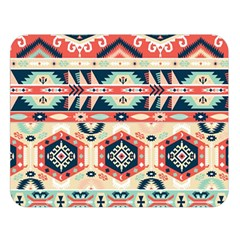 Aztec Pattern Copy Double Sided Flano Blanket (Large)