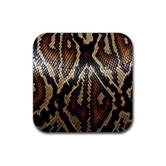 Snake Skin O Lay Rubber Square Coaster (4 pack)