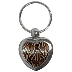 Snake Skin O Lay Key Chains (Heart)