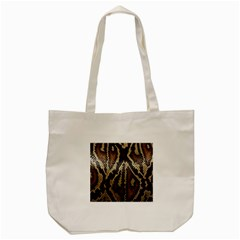 Snake Skin O Lay Tote Bag (Cream)