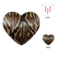Snake Skin O Lay Playing Cards (Heart)