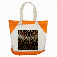 Snake Skin O Lay Accent Tote Bag
