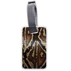 Snake Skin O Lay Luggage Tags (one Side)