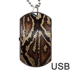 Snake Skin O Lay Dog Tag USB Flash (One Side)
