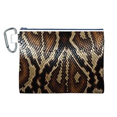 Snake Skin O Lay Canvas Cosmetic Bag (l)
