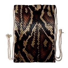 Snake Skin O Lay Drawstring Bag (Large)