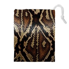 Snake Skin O Lay Drawstring Pouches (Extra Large)