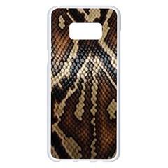 Snake Skin O Lay Samsung Galaxy S8 Plus White Seamless Case