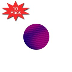 Purple Pink Dots 1  Mini Buttons (10 pack)