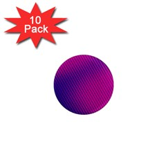 Purple Pink Dots 1  Mini Magnet (10 pack)