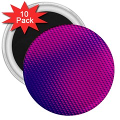 Purple Pink Dots 3  Magnets (10 Pack)