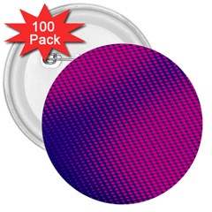 Purple Pink Dots 3  Buttons (100 Pack)