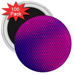 Purple Pink Dots 3  Magnets (100 pack)