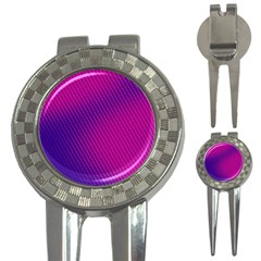 Purple Pink Dots 3 In 1 Golf Divots