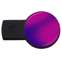 Purple Pink Dots USB Flash Drive Round (1 GB)