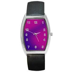 Purple Pink Dots Barrel Style Metal Watch