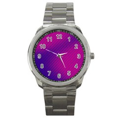 Purple Pink Dots Sport Metal Watch