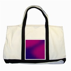 Purple Pink Dots Two Tone Tote Bag