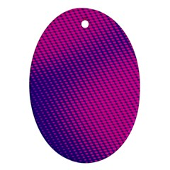 Purple Pink Dots Oval Ornament (two Sides)