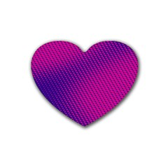Purple Pink Dots Rubber Coaster (Heart)