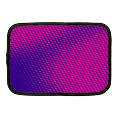 Purple Pink Dots Netbook Case (medium)