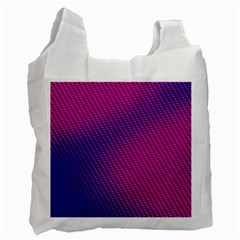 Purple Pink Dots Recycle Bag (two Side)