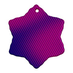 Purple Pink Dots Snowflake Ornament (two Sides)