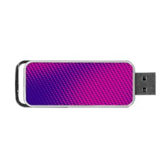 Purple Pink Dots Portable USB Flash (One Side)