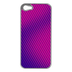 Purple Pink Dots Apple Iphone 5 Case (silver)